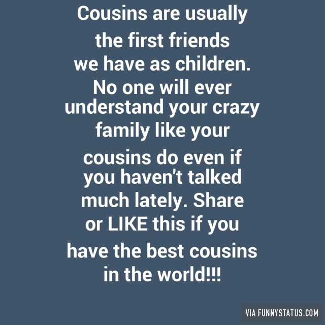 Quotes About Cousin Friendship Fascinating Friendship Quotes About Cousins  Best Cousin Friendship Quotes
